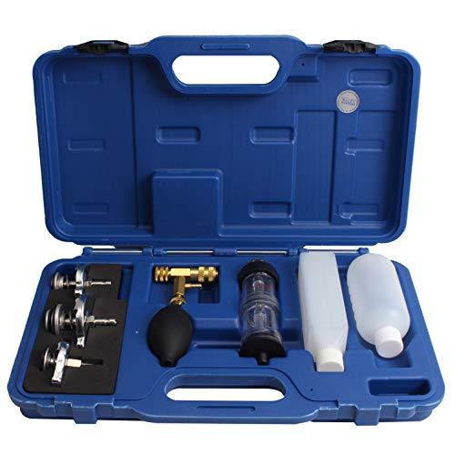 CCLIFE CO2 Lecktester Auto Zylinderkopfdichtung Tester Lecksucher Lecksuchgerät mit 3 Bajonett Adapter