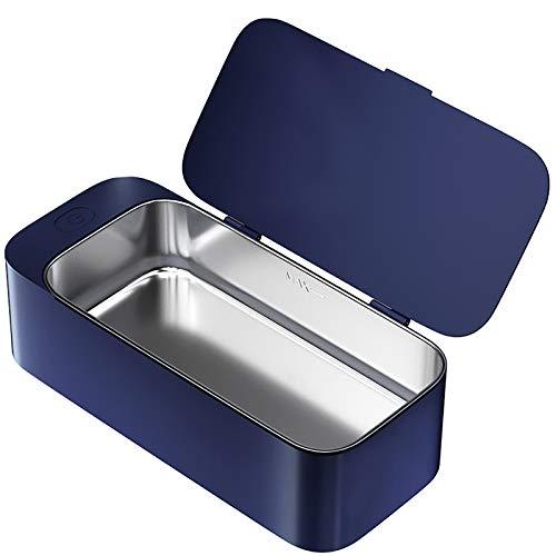 Preisvergleich Produktbild HEWXWX 450ml Ultraschallreiniger,  Mini,  Schallreiniger,  30 W,  Schmuckreiniger,  42 kHz,  Edelstahl,  Haushalt,  für Schmuck Silberbrillen Uhren Tätowierwerkzeuge, Blue