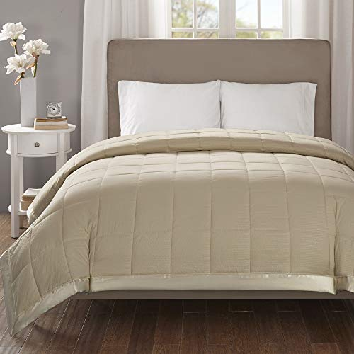 Madison Park Down Alternative Blanket Hypoallergenic 3M Scotchgard Stain Resistant Bedroom Bedding, Oversized King, Cambria Taupe