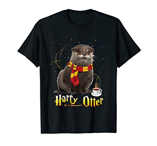 Harry Otter Funny My Patronus Is A Otter Gift Otter Lovers T-Shirt