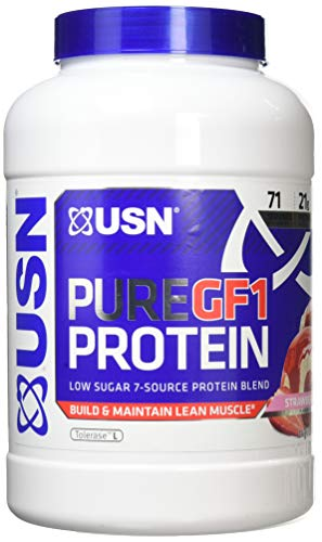 USN 100% Pure GF1 Protein 2KG (7 Source Protein Blend) Lean Muscle Growth (Strawberry)