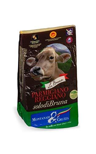 Parmigiano Reggiano - SOLO DI BRUNA - Parmesankäse von 24 Monate mit Milch der italienischen Rasse Bruna Alpina gemacht / 1000gr vakuumverpackt