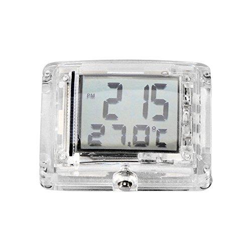 Reloj luminoso de la motocicleta, reloj eléctrico de la bici del coche con función luminosa del contraluz Exhibición impermeable del tiempo y de la temperatura