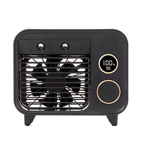 Woyada - Mini condizionatore d'aria portatile, evaporativo, con 5 velocità e luce notturna, per uso personale in piccole stanze, casa, ufficio, campeggio, auto