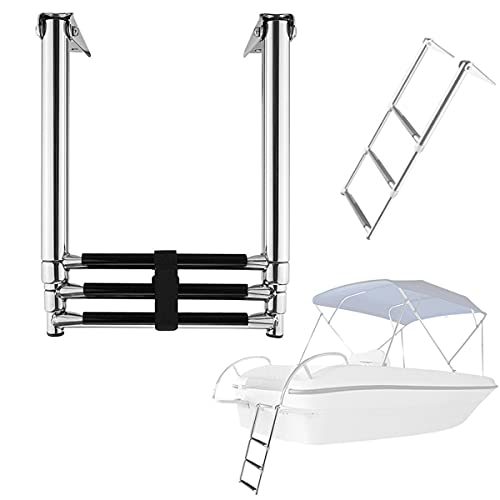 Roboraty Escaleras para Barcos Escalera De Embarque Telescópica Vertical De Acero Inoxidable...