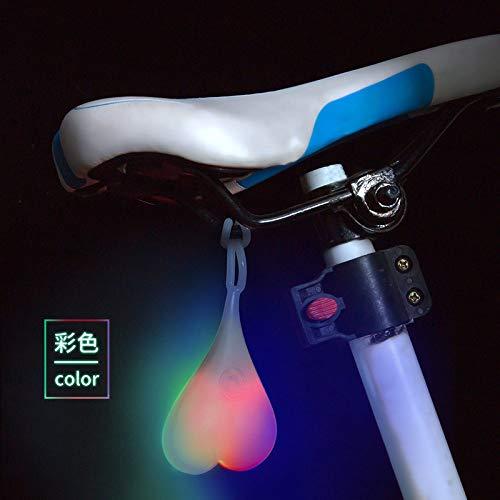 Balls-Bike Heart-Shaped Fahrrad Rücklicht Led Licht Radfahren Rückenlehne Ei Lampe Wasserdicht Kreative Silikon Grüne Beleuchtung, Bunte Licht