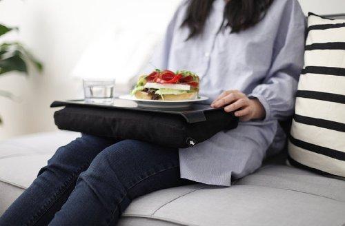 Bosign Mini Laptray Anti-Slip Halter Schoß für Laptops und Netbooks (schwarz, Baumwolle, Kunststoff, Kautschuk, 430mm, 230mm, 65mm)