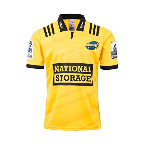 Wellington Hurricanes, Rugby Jersey, Home Edition, Neue Stoff Bestickt, Rugby Fan Unterstützer Alternative Trikots