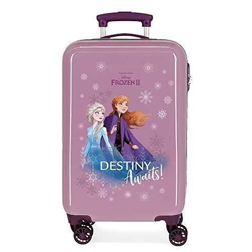 Disney Frozen Die Eiskönigin Destiny awaits Kabinenkoffer Violett 37x55x20 cms Hartschalen ABS Kombinationsschloss 32L 2,5Kgs 4 Doppelräder Handgepäck