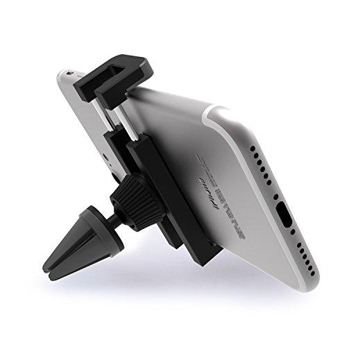 ivoler - Supporto Auto Smartphone Telefoni Cellulari 360 Gradi di Rotazione Porta Cellulare Universale Air Vent Car Mount per iPhone X, Samsung, Huawei, Xiaomi, MP3 Player e Altro - Grigio/Nero