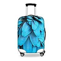 Bigcardesigns スーツケースカバー 伸縮素材 個性 旅行 羽毛 S/M/Lサイズ
