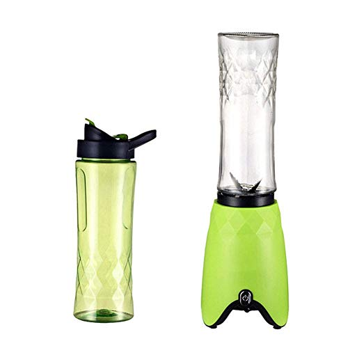 180W Blender Smoothie Maker – Electric Juicer Grinder for Fruit, Vegetables, Protein Shakes – BPA Free 500Ml Portable Sports Bottle, Grinder, Blending Jar,Green