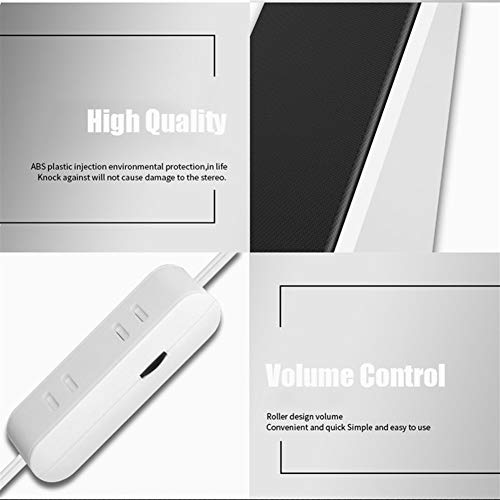 XIJUGE Computer-Audio-Kabel Computer-Lautsprecher tiefer Bass Unterstützung Desktop PC/Handy-USB-Energien-Stereo-Multimedia-Lautsprecher (Color : White)