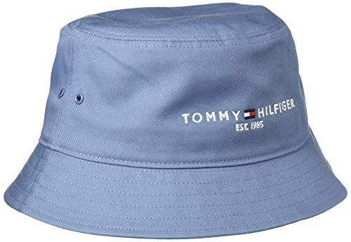 Tommy Hilfiger TH Established Bucket Hat Gorro/Sombrero, Colorado Índigo, Taille Unique para Hombre