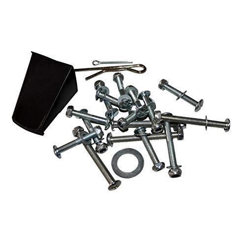 WilTec Pièce détachée - Pochette d'accessoires - 52 vis et Petites pièces pour épandeur