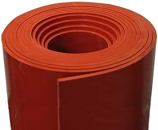 Silicone Rubber Sheet 1//4/'/' Thk x 2/'/' W x 38/'/' L Strip US Mil Spec 60 Duro Gray