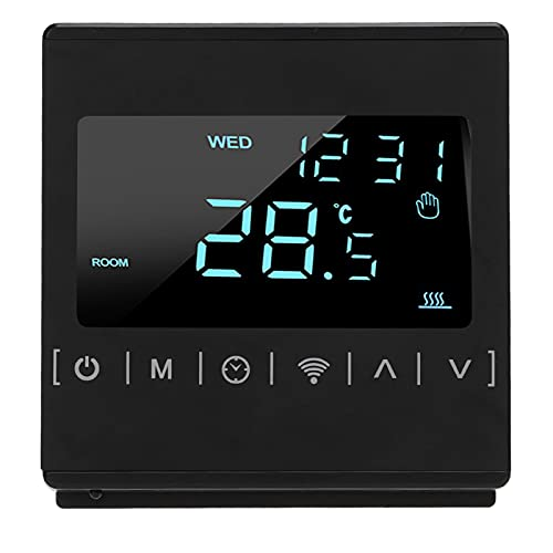 xiji Termostato, Controlador De Temperatura Anti Quemaduras para Interior para Oficina para Hogar para Fábrica