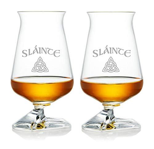 Whiskey Glass Set – Irish Tuath Glasses – Celtic Whiskey Glasses - Glass Set for Whiskey Tasting – Sláinte (Irish toast) Edition