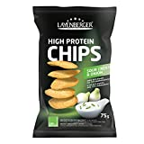 Layenberger High Protein Chips Sour Cream & Onion,(1 x 75 g)