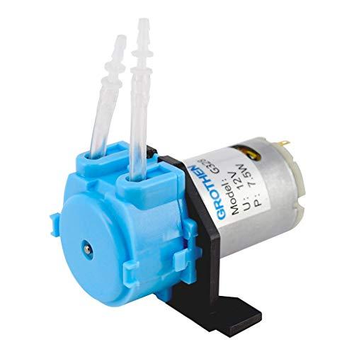 siwetg Pompe péristaltique pour aquarium 12 V Micro pompe péristaltique 3 x 5