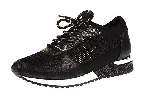 La Strada 1904004 - Damen Schuhe Sneaker - 1401-black-cracked, Größe:40 EU