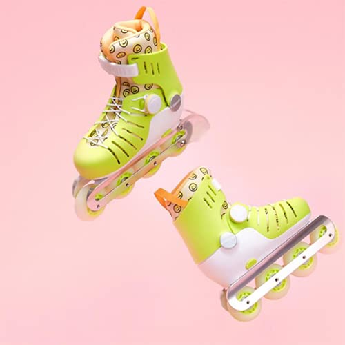XINAYUEJP Inline Skates Kinder Vestellbare Inliner Größe 28-31 Leucht PU Räder Rollerblades, ABEC 7 Lager Ideal für Anfänger, Komfortable Rollschuhe, Inliner für Mädchen und Jungen