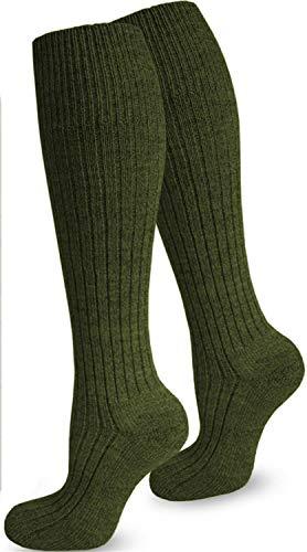 normani 1 Paar Bundeswehr Kniestrümpfe Wintersocken lang mit 70% Wolle von 35-50 Farbe Oliv Größe 43/46
