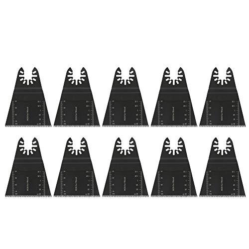 10 Stück 65mm Oszillierendes Kit, Oszillierendes Zubehör Set Multitool Werkzeug Klinge Sägeblätter Mix Multitool Multifunktionswerkzeug zum Schneiden von Holz Kunststoff Weichmetall