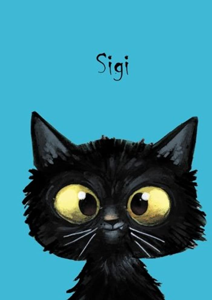 ばかげている成功ヒューバートハドソンSigi: Personalisiertes Notizbuch, DIN A5, 80 blanko Seiten mit kleiner Katze auf jeder rechten unteren Seite. Durch Vornamen auf dem Cover, eine schoene kleine Aufmerksamkeit fuer Katzenfreunde. Mattes, handschmeichelndes Coverfinish. Ueber 2500 Namen bereits verf