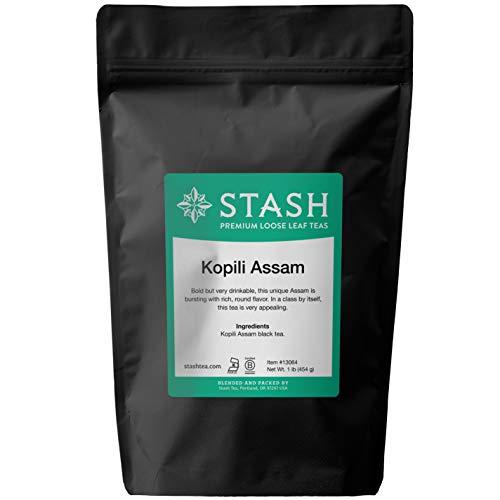 Stash Tea Kopili Estate Special Assam Black Loose Leaf Tea 16 Ounce Pouch Loose Leaf Premium Black Tea for Use with Tea Infusers Tea Strainers or Teapots, Drink Hot or Iced, Sweetened or Plain