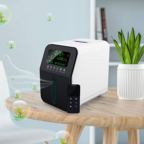Generador de Concentrador de Oxígeno Portátil, OSITO 1-5 L/min Máquina de Oxígeno Portátil, la Máquina de Oxígeno para Uso Doméstico de Automóviles de Viaje - (No es Médico)