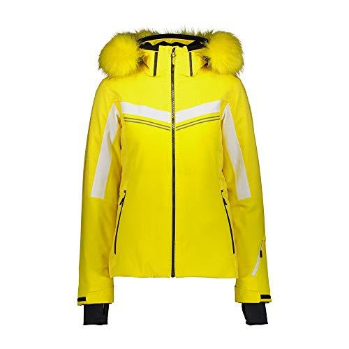 CMP Skijacke mit Kunstfell L gelb