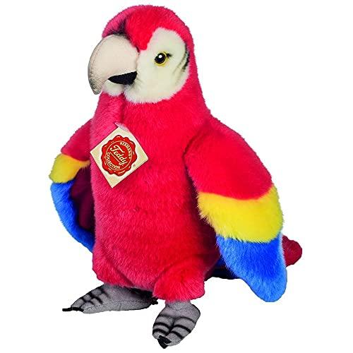 Teddy Hermann 94156 Papagei 24 cm, Kuscheltier, Plüschtier