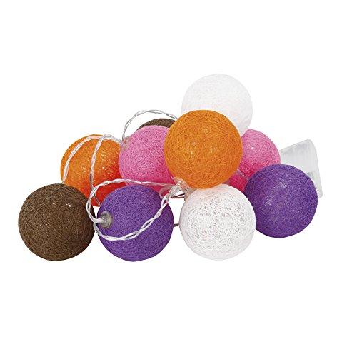 Cogex 493356 Guirlande Electrique 10 LED Boule Mul, Plastique, Multicolore