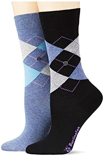 Burlington Damen Basic Gift Box W SO Socken, Mehrfarbig (Sortiment 20), 36-41 (UK 3.5-7 Ι US 6-9.5) (2er Pack)