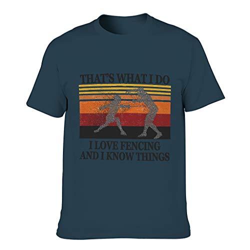 Lind88 Camisetas de algodón para hombre Love Fencing Know Things - Camisa de verano deportiva