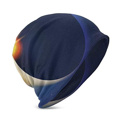 zhouyongz Solar Eclipse Space Cat Fish Food Hat Turbante...