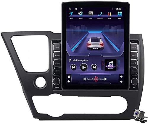 GPS Navigation Head Unit Sat Nav AUD Audio Player MP5 FM Radio Receptor Coche Stereo 9.7 Inch Pantalla Táctil Android 9.0 Compatible para Honda Civic EX-L 2013-2017,4 Core 4G+WiFi 1+16GB