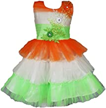 My Lil Princess Baby Girls Birthday Frock Dress_Golden Red Scuba_1-6 Years