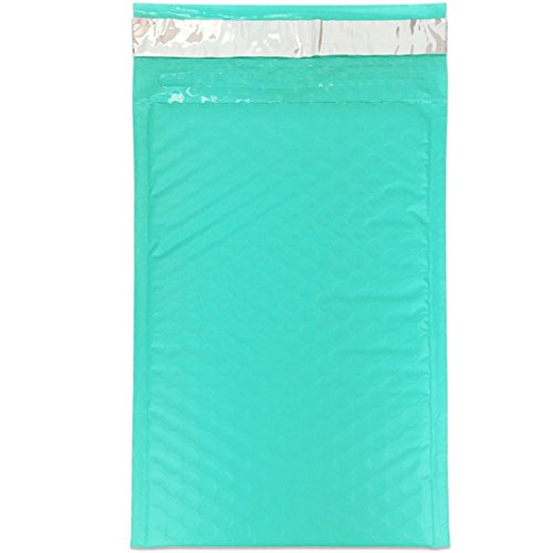 """Beauticom TEAL (50 Pieces) #000, 4""""x8"""" Self-Seal Poly Bubble Mailer Envelopes Eco Friendly Lightweight Made In The USA Photo #7"""