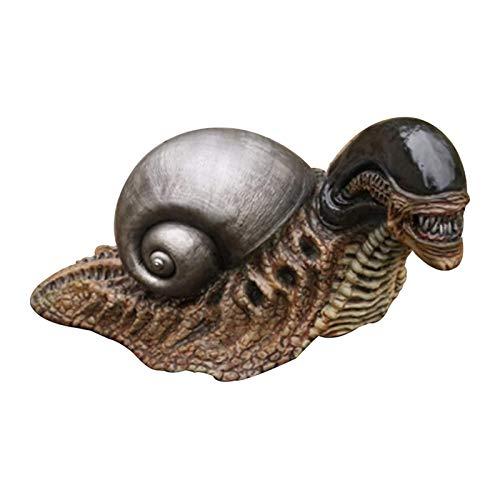 kristy Snail Alien Statue, Schnecke Statue Spielzeug, Xenomorph Schnecke, Halloween Dekoration für Haus Garten, Geschenk für Alien Collector