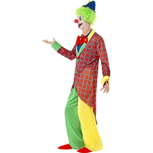 Amakando Disfraz de artista circo, disfraz de arlequn, talla L 52/54, disfraz de payaso, disfraz de hombre divertido