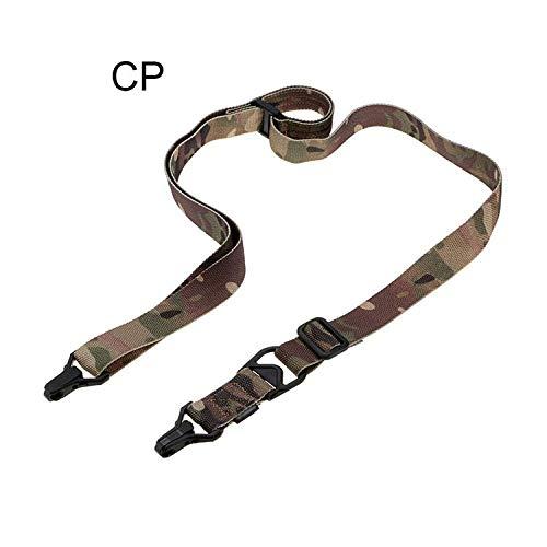 XFC-QDAI, Caza Dual Dos Puntos 2 Rifle MS3 Sling Ajustable Cuerda De Nylon Multifuncional Pistola De Airsoft Tactical Shooting Accesorios del Arma (Color : CP)