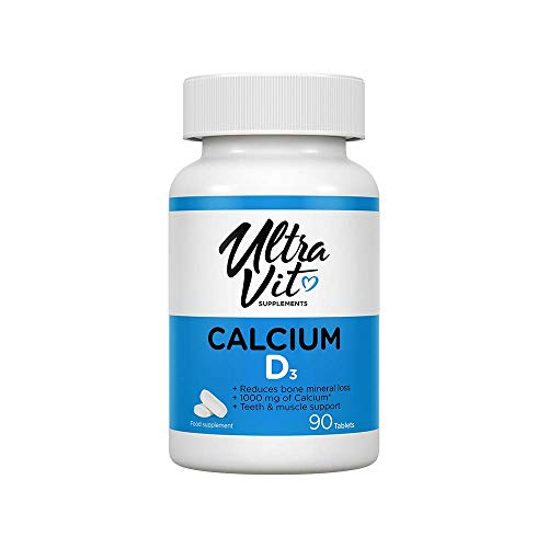UltraVit Calcium and Vitamin D3 | Essential Vitamin for Building and maintaining Healthy Bones | 120 Softgels