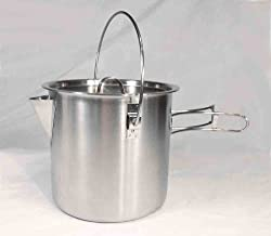 Teton Falls 52/68 Oz Stainless Steel Camping Pot Cooking Kettle