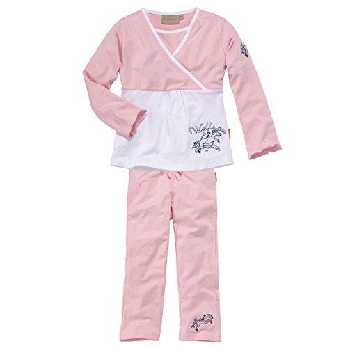 wellyou, Kinder-Schlafanzug, Langarm, Zweiteiler für Mädchen, in rosa, Größe 140-146