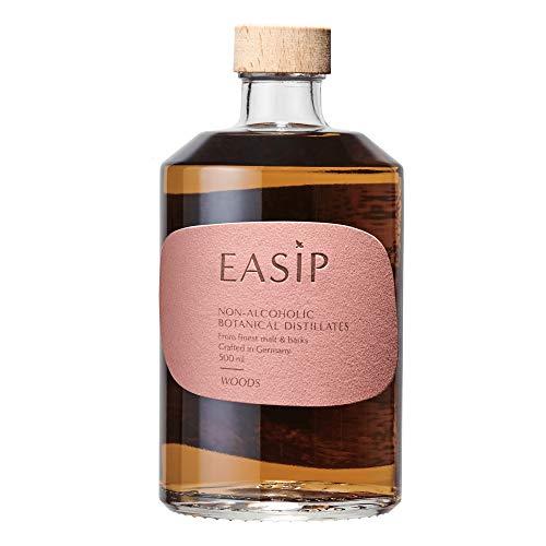 EASIP WOODS | Alkoholfrei | Zuckerfrei | Preisgekrönte Destillate für alkoholfreie Cocktails & Longdrinks | 8 Botanicals | Mixe deine alkoholfreie Alternative zu Whisky Sour | 500ML