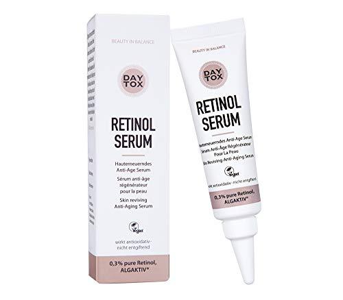 DAYTOX – Retinol Serum - Anti-Aging Serum mit 0,3% reinem Retinol für glatte Haut – Vegan, Ohne Silikone, Made in Germany – 30ml