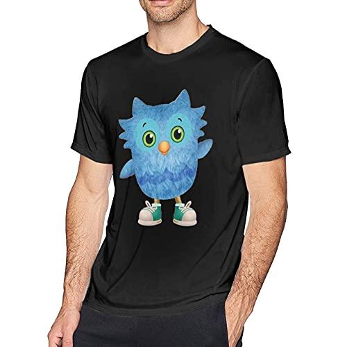 Camiseta de Manga Corta para Hombre Cartoon Pictures Cómoda Camiseta de Cuello Redondo de algodón de Moda XXL