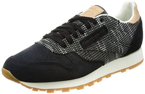 Reebok Męskie buty Cl Leather Ebk Fitness, czarny - Schwarzstark Grau Sand Stone Gum - 45 EU
